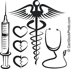 set of medical signs