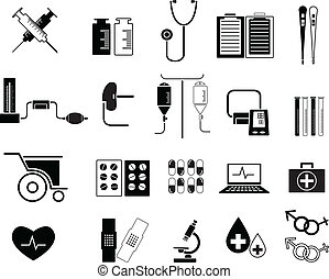 Set of Medicine Icon Vector Illustration