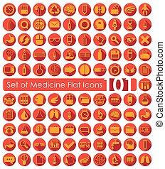 Set of medicine icons