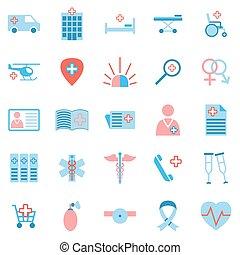 Set of medicine icons.