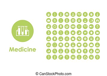 Set of medicine simple icons
