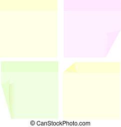 Set of Memo Sticks Isolated on White