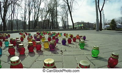 Set of memorial candles