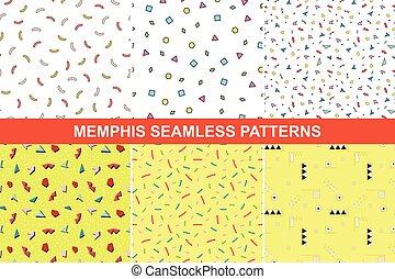 Set of memphis patterns.