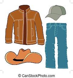 set of men clothes