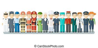 set of men professions