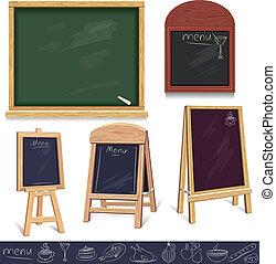 Set of menu boards