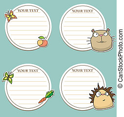 message stickers with funny animals
