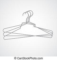 Set of metal hanger, vector illustration