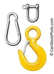 Set of Metal hook, isolated on white