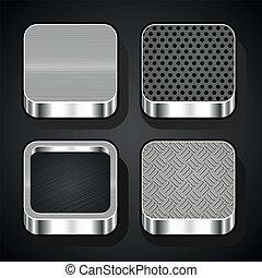 Set of metal ios icons