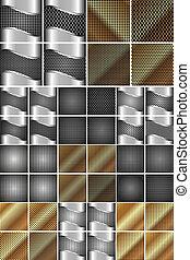 Set of metal texture