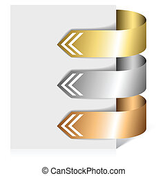 Set of metalic arrows