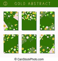Set of metallic abstract brochures