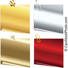 set of metallic stickers
