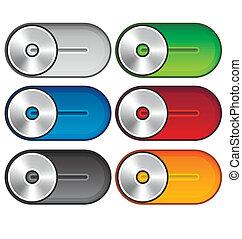 Set of metallic switches
