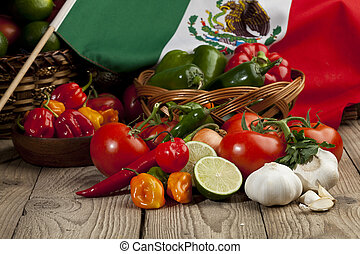 set of mexican vegetables