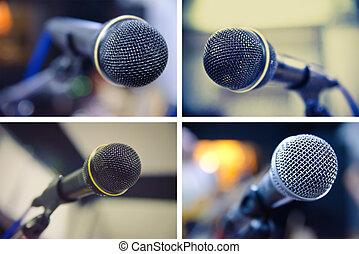 set of microphones