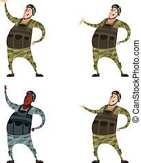 Set of military men