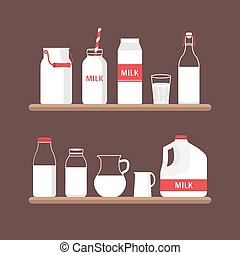 Set of milk.