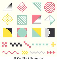 Set of modern abstract design elements, template for your project. Colorful vector collection