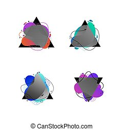 Set of modern abstract vector banners. Trendy abstract, vibrant and colorful icon, element logo