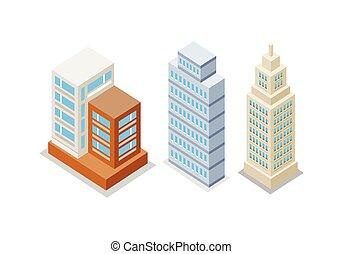 Set of Modern Apartment Buildings