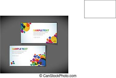 modern business card templates - Set of modern business card...