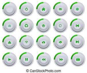 Set of modern buttons