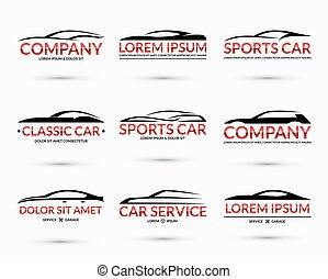 Set of modern car logo design templates. Vector illustration...