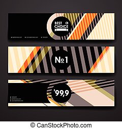 Set of modern design banner template in abstract style