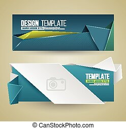 Set of modern design banners