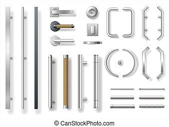 Set of modern door handles