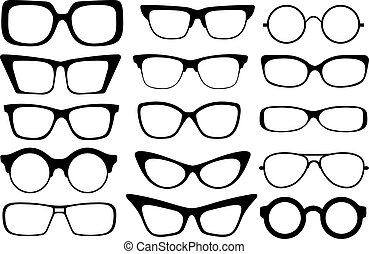 fashion glasses - Set of modern fashion glasses. Vector ...