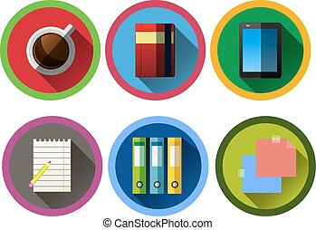 set of modern flat business icons