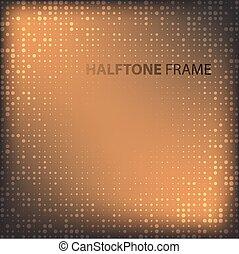 Set of Modern Flat Halftone Backgrounds, vector illustration