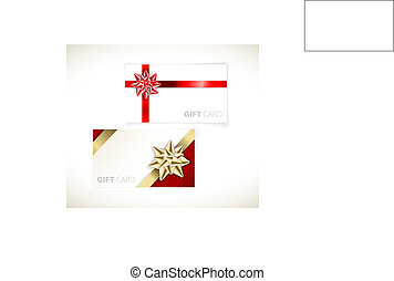 modern gift card templates - Set of modern gift card...