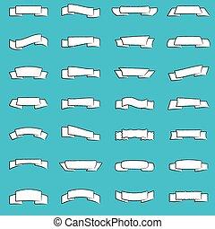 Set of modern ribbons for design
