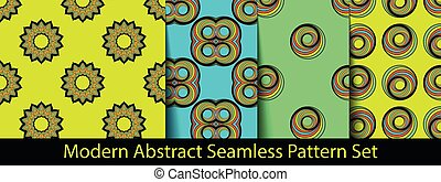 Set of modern seamless pattern backgrounds. Nice and...