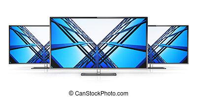Set of modern TVs