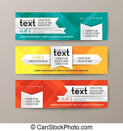 Set of modern web banners template with colorful abstract background