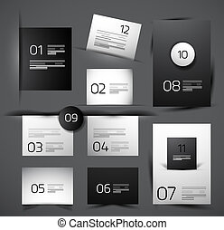 Set of modern web shadow design templates