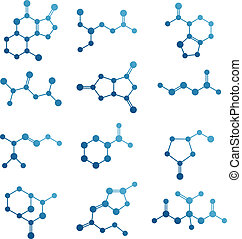 Set of molecules.