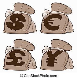Set of Money Bags