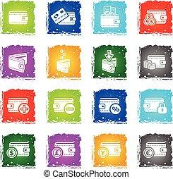 set of money icons