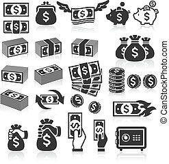 Set of money icons.