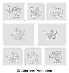set of monochrome icons