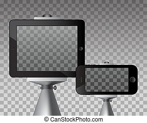 Set of monopod and phone.