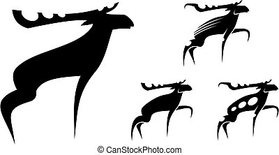Set of mooses