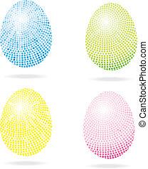 Set of mosaic Easter eggs